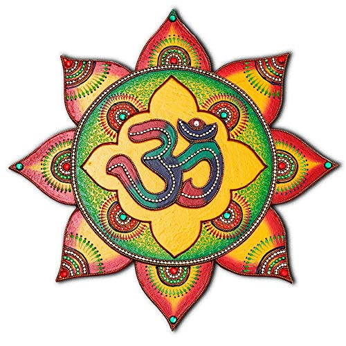 Om Symbol Living Room Wall Decor - Boho Decoration Wooden Wall Painting - 100% Handcrafted in India