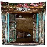 binghongcha Tapiz Retro Edificio Indio Pensamiento Mágico Hippie Mandala Bohemio Colgante De Pared Decoraciones Decoración De Tela De Pared 350(An) X256(H) Cm