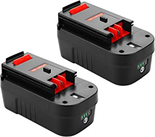 Powilling Innovation 5.0Ah Lithium-Ion Replacement Battery for Black and Decker 18 Volt Nicad Battery Firestorm 18v Nicad Battery HPB18-OPE 244760-00 A1718 FS18FL FSB18 Black Decker 18V Battery