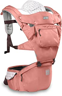 3-48 months SONARIN 4 in 1 Breathable Baby Carrier,3D Breathable mesh,Sunscreen Hood,Ergonomic,for Newborn to Toddler Pink ,Maximum load 20kg,Front Facing Baby Carrier,Suitable for summer