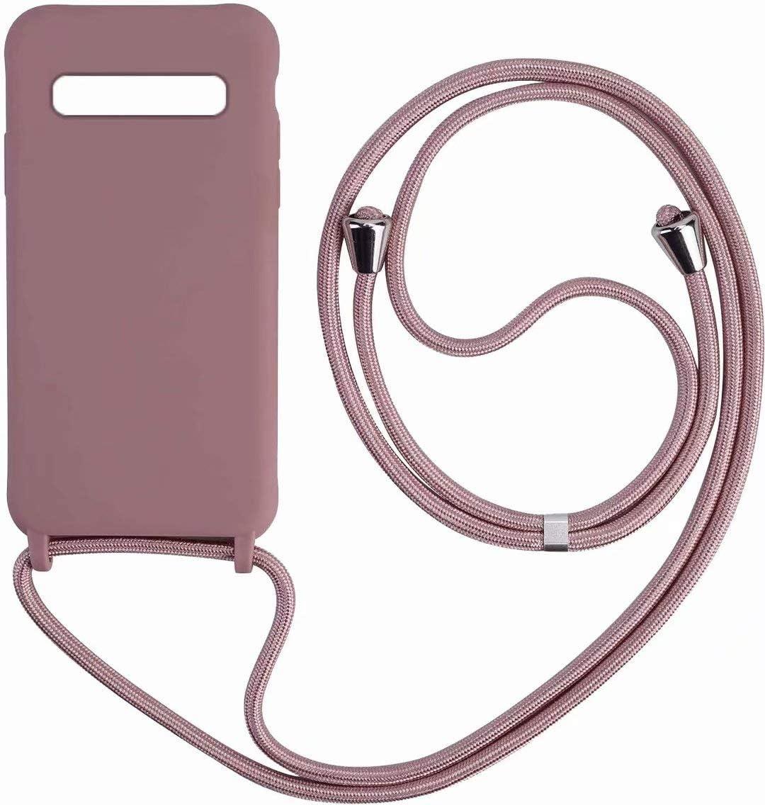 Funda con Cuerda para Samsung Galaxy S10 Plus,Moda y Practico Carcasa Gel de s/ílice TPU Case Cover con Colgante//Cadena.