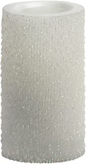 Sterno Home Candle Impressions 6-Inch Iridescent Icicles Flameless Candle, Unscented, White