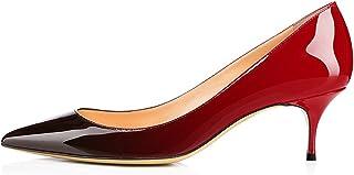 0b4aa857bc06a8 Soireelady Escarpins Femme à Talon Moyen Élégante Club Soiree Bureau  Chaussures