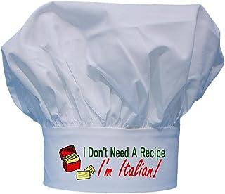 Chef Hat I'm Italian I Don't Need A Recipe Funny White Toques