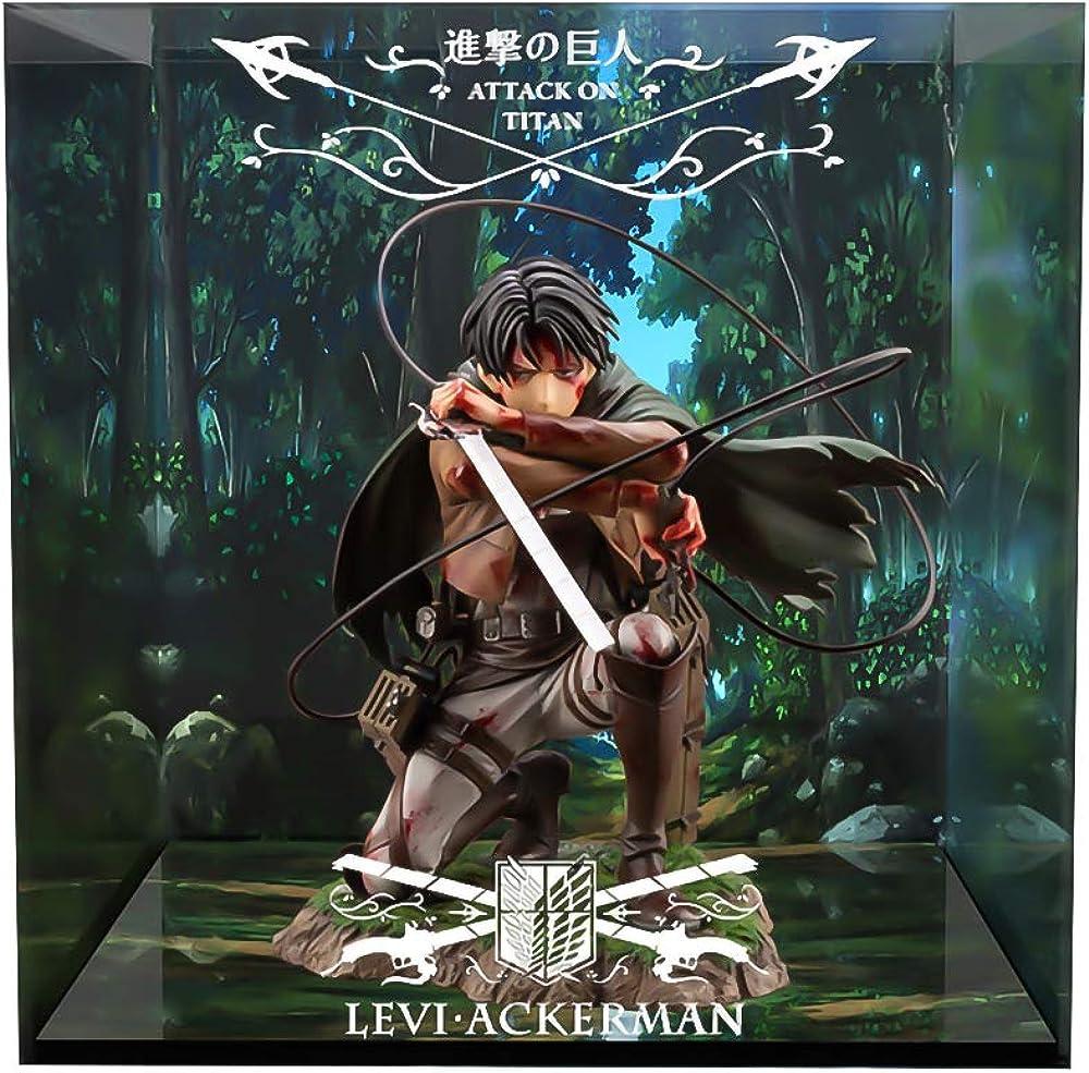 Wuhuayu , attack on titan levi artfx j , espositore professionale personalizzato con figura completa ZINRAM AFC 2
