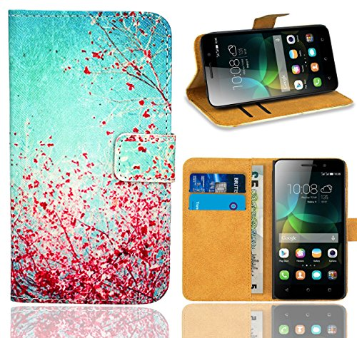 FoneExpert® Huawei G Play Mini / Honor 4C Handy Tasche, Wallet Case Flip Cover Hüllen Etui Ledertasche Lederhülle Premium Schutzhülle für Huawei G Play Mini / Honor 4C (Pattern 3)