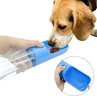 YoNiYar Portable Dog Water Bottle for Walking,Pet Drinking Feeder,Puppy Water Dispenser,Travel Drinking Bowl,Kittens Drink Cup
