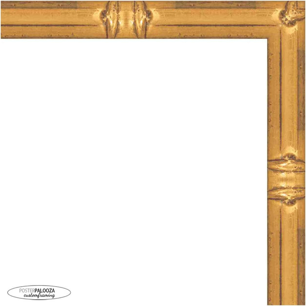 Poster Palooza 28x18 Bamboo Gold wit Complete Over item handling ☆ Wood Latest item Frame Picture