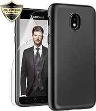 Galaxy J3 Orbit/ J3V J3 V 3rd Gen/Express Prime 3/ J3 Star/ J3 Achieve/Amp Prime 3/ J3 Aura/Sol 3 Case, Androgate Hybrid Matte Cover Case with Screen Protector for Samsung Galaxy J3 2018, Black