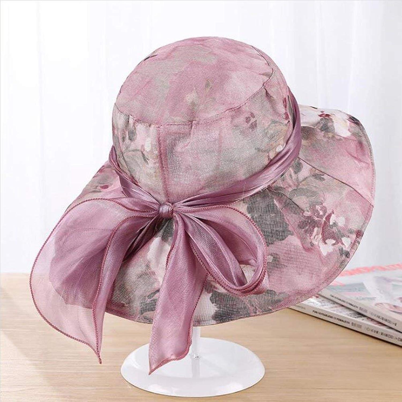 3e1292544e Beach Hat Sun Hats Women Uv Wide Brim Hats, Flowers Bow tie ...