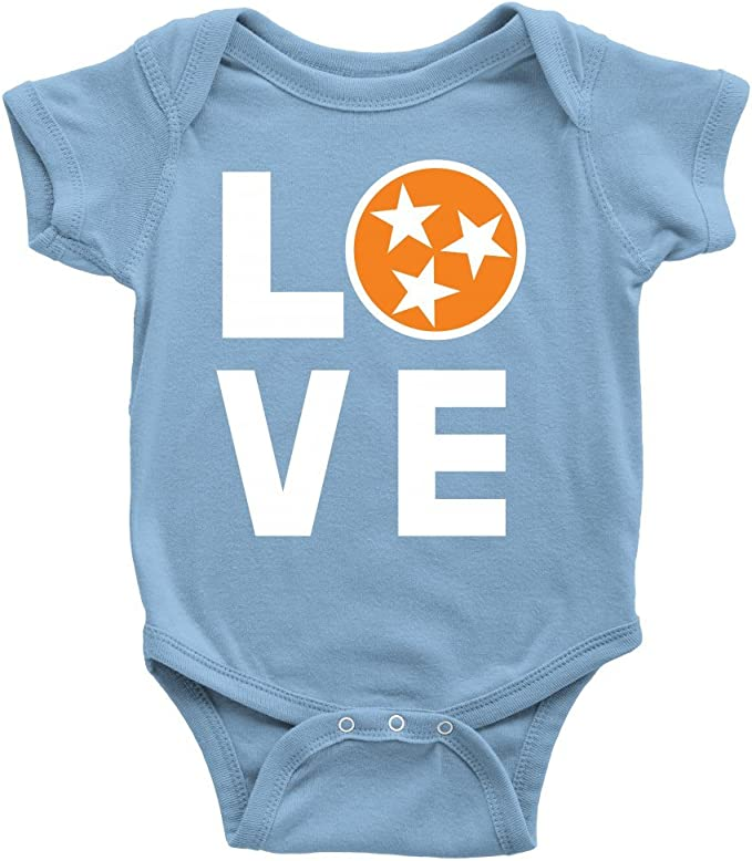 Wes and Willy Infant Tennessee Volunteers Vols UT Bodysuits 3 Pack Organic Cotton Set 24 M