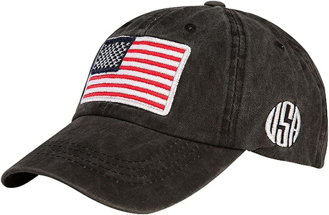 Unisex American Flag San Antonio Mall Embroidered Baseball Cotton NEW before selling Ball Hats Dad C