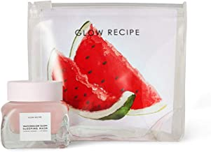 Glow Recipe Watermelon Glow Sleeping Mask Mini - Travel Size Hydrating and Exfoliating Overnight Face Mask with Hyaluronic Acid, AHA + Amino Acid-Rich Watermelon Extract (30ml / 1 fl oz)