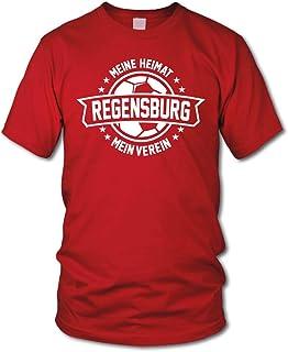 shirtloge Regensburg - Meine Heimat, Mein Verein - Fan T-Shirt Größe S - 3XL