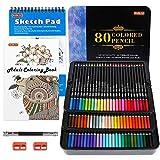 80 Colors Professional Colored Pencils, Shuttle Art Soft Core Pencil Set with 1