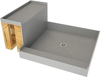 Tile Redi USA 4848C-RB48-KIT Base'N Shower Pan and Bench, 60
