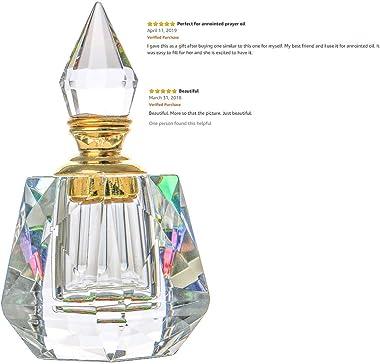 H&D Vintage Perfume Bottles Crystal Empty Refillable Home Table Decoration Bottle