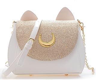 ARVALOLET Handtaschen, Handtasche Damen,Damen Umhängetasche,Geldbörsen unter den Armen, Mode lässig niedlichen Katze Desig...