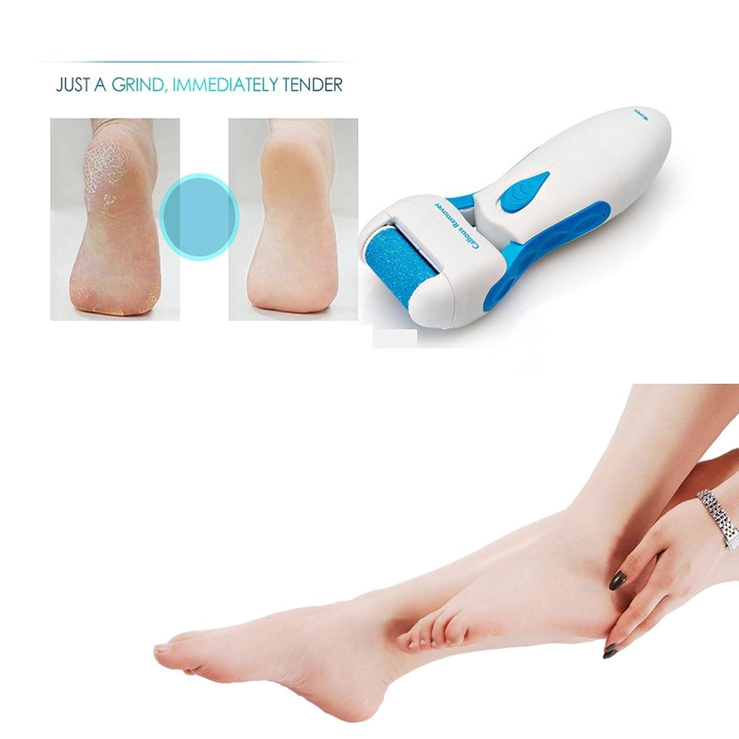 実験をするビリーヤギ気取らないElectric Callus Remover, Waterproof Foot File Pedicure Tool to Remove Dead, Hard, Cracked Skin and Reduce Calluses on Feet in Seconds, Cleaning Brush and Replacement Roller Included (Blue)