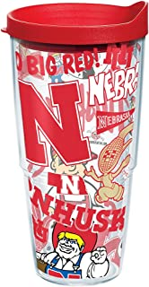 Tervis NCAA Nebraska Cornhuskers All Over Tumbler With Lid, 24 oz, Clear
