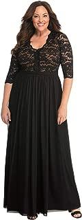 Women's Plus Size Jasmine Lace Evening Gown