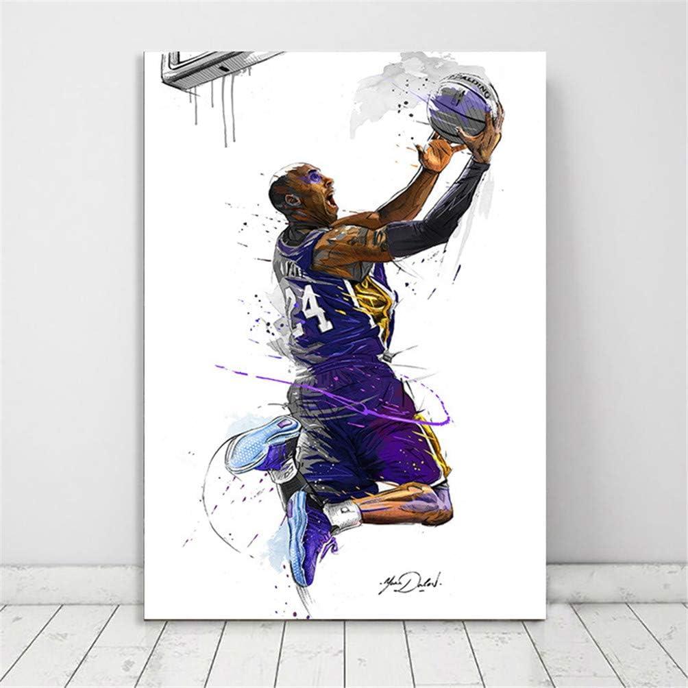 Kobe Bryant Basketball Poster Aquarell Fan Kunstdrucke Nba Basketball Star