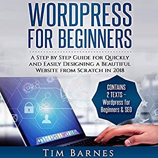 Wordpress for Beginners audiobook cover art
