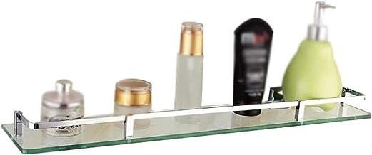 Badkamer Glazen Plank, Enkellaags Wandmontage Glazen Plank Glazen Cosmetische Plank Badkamer Spiegel Voor Opslag Afwerking...