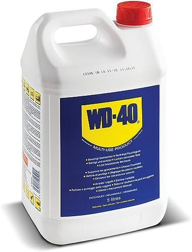 WD-40 • Produit Multifonction • Bidon • Sans Silicone • Non Conducteur • Compatible Plastiques, Caoutchoucs, Tous Mét...