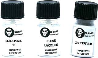 SD COLORS Black Pearl 1K Ausbesserungslack, 5 ml, Reparatur Pinsel, Farbcode 1K Black Pearl (Lack + Grundierung + Lack)