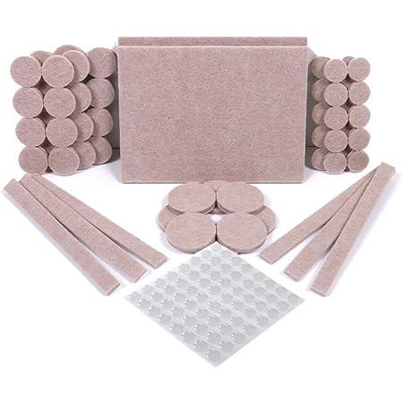 SIMALA Protectores para patas de mesa. Fieltros adhesivos y topes de goma adhesiva. Protector adhesivo para patas de sillas, fieltro para sillas de 5mm de grosor y más durabilidad (124)