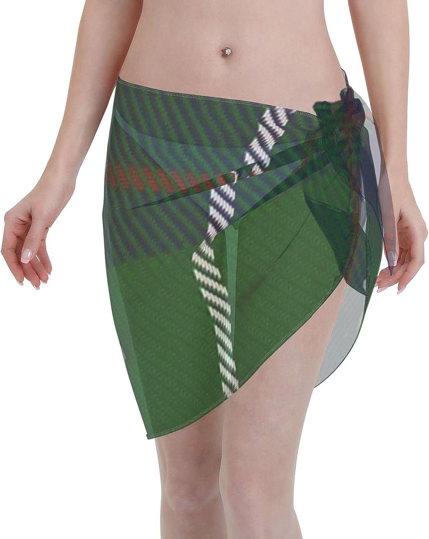 2053 pants MacIntyre Hunting (VS) ClanFamily Tartan Women Chiffon Beach Cover ups Beach Swimsuit Wrap Skirt wrap Bathing Suits for Women