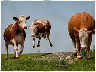 fotobar!style Fleecefilt liten ca 135 x 100 cm ko på flygning