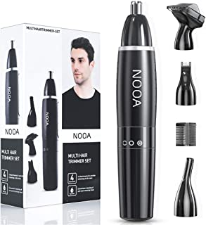 NOOA 4 IN 1 Ear and Nose Hair Trimmer for Men Eyebrow Trimmer Facial Hair Remover, Electric Painless Nose Hair Clipper Bat...