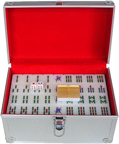Mejor precio LI JING SHOP - Tamaño grande de de de la tarjeta de Mahjong del oro de acrílico de la mano casera grande  3.8  2.9  2.1CM (solo), 4.0  3.1  2.2CM (solo) 1 sistema de 144 hojas ( Color   Aluminum box , Tamaño   L-3.82.92.1CM )  punto de venta en línea