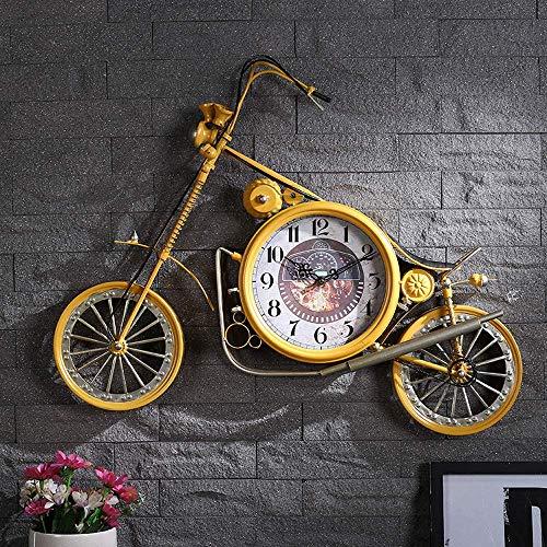 NMDD Reloj de Pared de Bicicleta Creativo, Estilo nórdico, Moderno, Minimalista, Personalidad, Moda mediterránea, Reloj silencioso, Adecuado para Sala de Estar, Dormitorio, cafetería, decoración