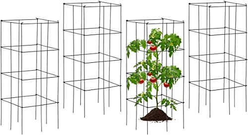 lowest Giantex 2021 Pack of 4 Plant Cage Support, Tomato Stakes and Cages, Metal Supports for Potted Plant, 39'' Height Flower Trellis (16''Lx sale 16''Wx 39''H (4 Pieces)) outlet sale