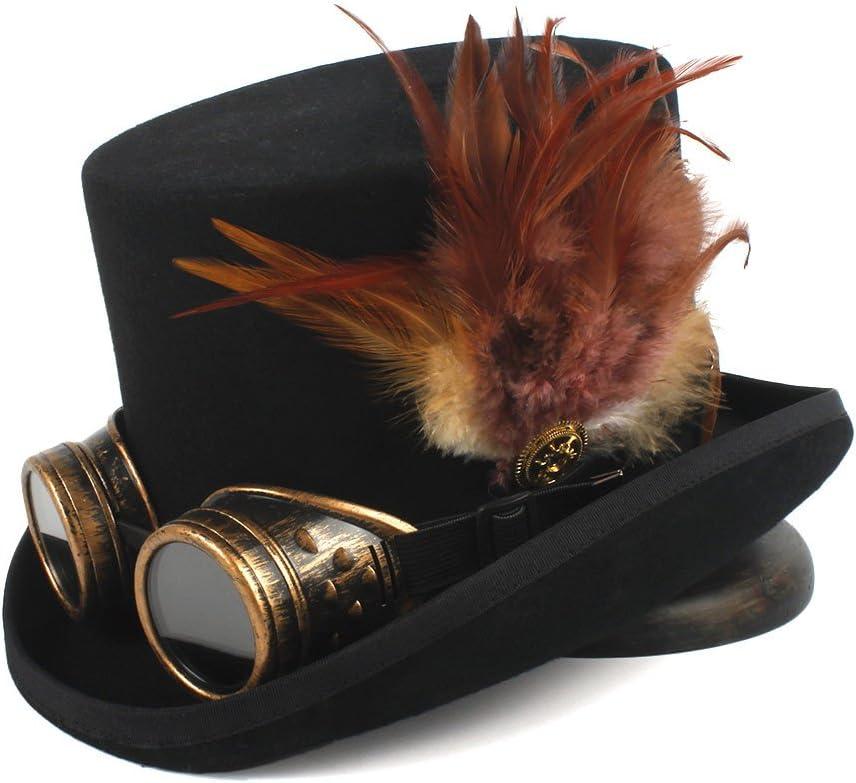 5 ☆ very popular TWEITIE Men's Steampunk safety Top Hat 4 Tea Wool Size P Fedora