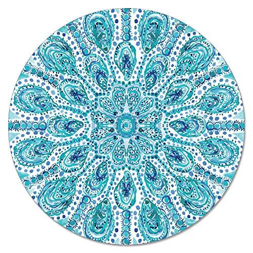 Highland Home Glass Lazy Susan Ocean Fantasy 13 Inch Diameter