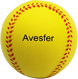 Avesfer Practice Baseballs Foam Softballs Training Sporting Batting Soft Ball Indoor Outdoor Backyard for Players Teenager Yellow (12 Pack 9 INCH)