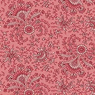 Secrets & Shadows Fan Floral Raspberry on Pink Fabric ~ Nancy Gere for Windham