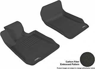 3D MAXpider Front Row Custom Fit All-Weather Floor Mat for Select BMW 3 Series Sedan (E90)/ Coupe (E92) Models - Kagu Rubber (Black)