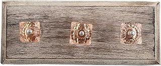 IndianShelf - Lot de 2 crochets carrés en bois rose faits à la main pour accrocher des clés, des chapeaux ou des vêtements