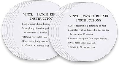 DECYOOL 50PCS Pool Patch Repair Kit-Adhesive Sheet White PVC Repair Patch for Inflatable Swimming Ring,Rowboat,Air Mattress