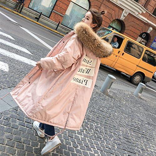Xuanku en Coton épais Veste Hiver Manteau Femme Long, Même Cap Video Jin Mao Fines Plumes Collier Vêtements De Coton