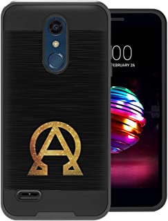 Capsule Case Compatible with LG K30, LG K10 2018, LG Premier Pro LTE [Hybrid Fusion Dual Layer Slick Armor Case Black] for LG K10 (2018), LG K30 (X410) - (Alpha and Omega)