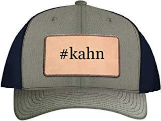 One Legging it Around #kahn - Leather Hashtag Light Brown Patch Engraved Trucker Hat