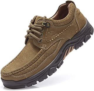 Mens Loafer Slip-on Shoes Casual Leather Walking Shoes Slip Resistant Driving Sneakers for Business Work