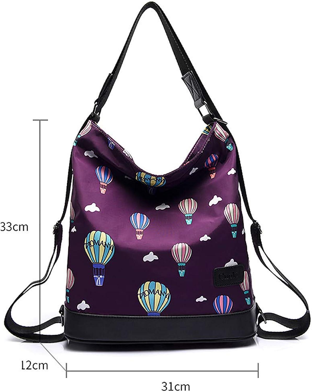 Show Time backpack:Women's Bags Nylon Backpack Zipper blueee Black Purple