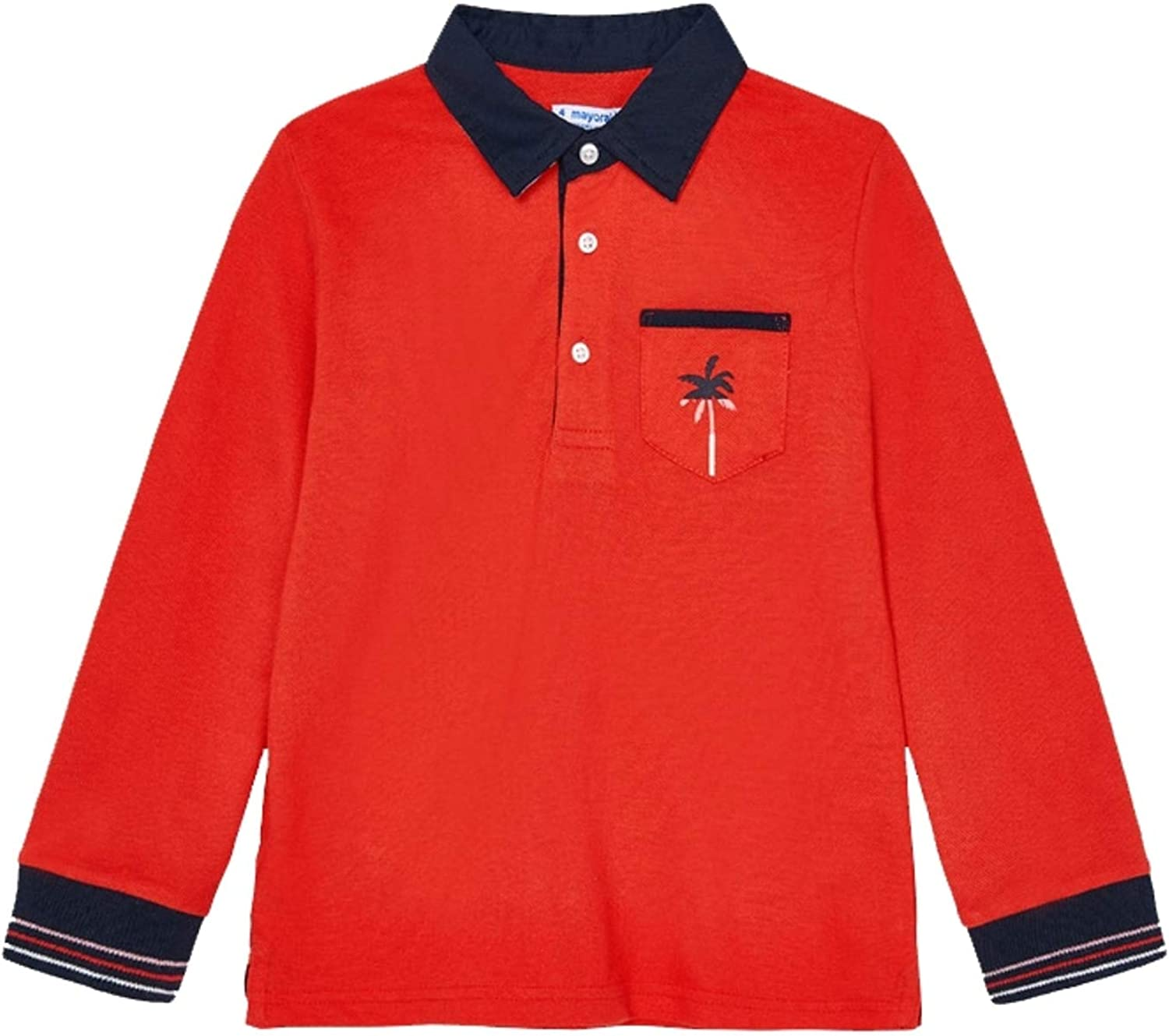 Mayoral - L/s Polo for Boys - 3115, Cyber red